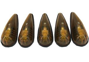 Cab Marker Lights Universal Roof Clearance Truck Rv Kit 5 Piece