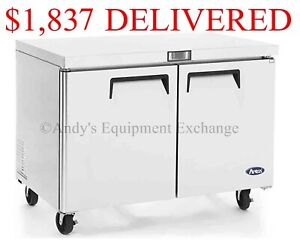 48 Inches 4 Ft Wide 2 Door Undercounter Work Top Restaurant Commercial Freezer