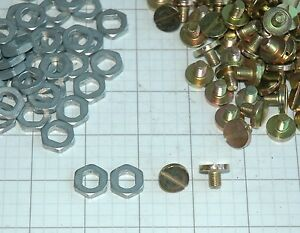 50 Holley Needle Seat Locking Nuts Screws New Hi Perf Street Rod 4150 4160