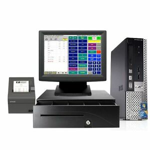 Dell Refurbished Point Of Sale System Bar Restaurant Pos New Win 7 I3 4gb