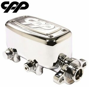 Cpp Chrome Mcpv 1 Master Cylinder Ford Chevy Street Rod 1 1 8 Bore