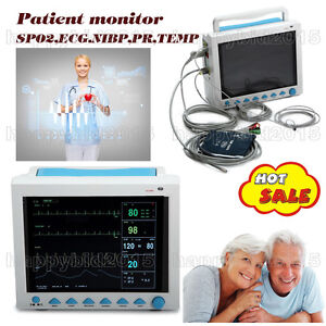 Multi parameter Patient Monitor Ecg Nibp Spo2 Pr Temp fast Fedex Ship