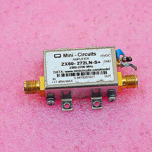 1pc Used Mini circuits Zx60 272ln s 2300 2700mhz Sma Rf Amplifier