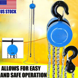 0 5t Hoist Pulley Chain Wheel Block Chain Hoist Tackle Puller Lift Tools Lifter