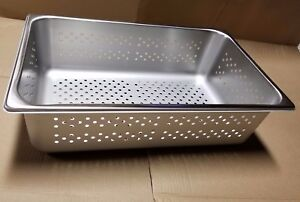 New Box Of 6 Polar Ware P20126 300 Series Stainless Steel Perforated Pans Usa