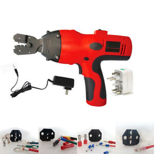 Electric Battery Powered Handheld Cable Wire Crimper Automatic Crimping Tool