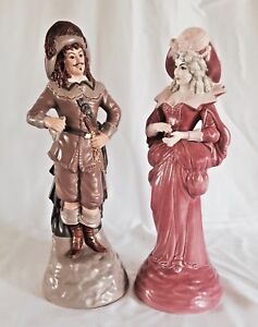 Large Pair Of French Figurines By Worell 15 Tall