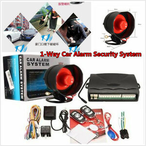 Keyless Entry Auto Suv 1 way Car Alarm Security System With 2 Remote Anti theft