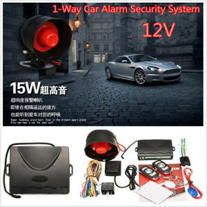 1 Way Car Alarm Security System Keyless Entry Siren W 2pcs Remote Controlers Kit