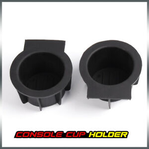Pair Front Console Cup Holder Insert Liner For Ford F 150 Expedition Navigator