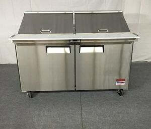 60 Sandwich Prep Unit Prep Table Cooler 60 5 Mega Top 24 Pan Refrigerator New