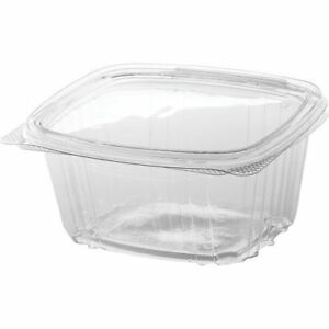 Genpak Ad16 16 Oz Clear Hinged Deli Food Container 200 Piece Pack New