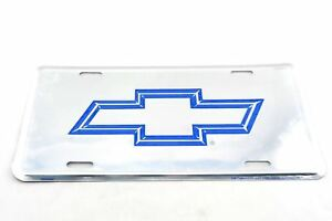 Chevrolet Chevy Blue Bow Tie Licensed Aluminum Metal License Plate Sign Tag