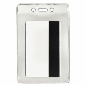 Advantus Security Id Badge Holder Vertical 3 3 8w X 4 1 4h Clear 50 box 754