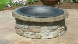 Concrete Fire Pit Seat Wall Form Liner Tightstack Stone 13 X 6 Walttools