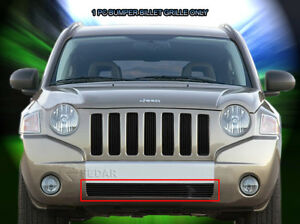 Black Billet Grille Front Grill Bumper Insert For 2006 2010 Jeep Compass
