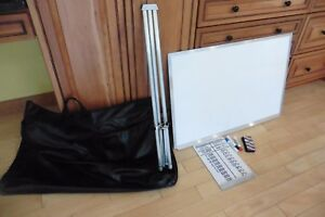 Dry Erase 36 x24 Whiteboard Portable Presentation Adjustable Metal Stand Tripod