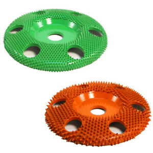 Saburr Tooth 10 Off Set 7 8 Bore W Holes Sanding Disc green And Orange Usa
