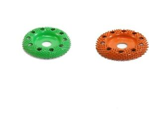 Saburr Tooth 10 Off Set 5 8 Bore W Holes Sanding Disc green And Orange Usa