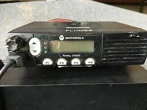 Motorola Radius Cm300 Aam50rcf9aan Mobile Radio With Astron Rs 12a Power Supply