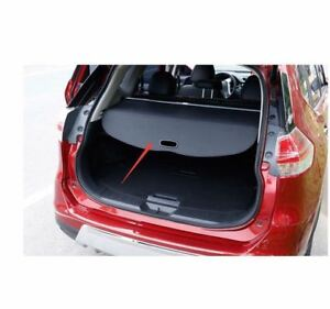 For Nissan Rogue X trail Black Car Rear Cargo Tail Trunk Cover Shade Shield