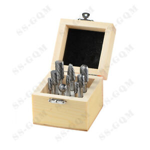 6mm Double Cut Carbide Rotary Burrs Set For Metal Carving Polishing Engraving