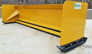 10 Snow Pusher Boxes Free Shipping rtr Skid Steer Snow Plow Bobcat Quick Attach