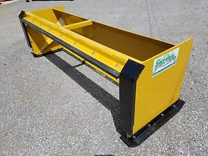 10 Pullback Snow Pusher With Front Shoes Free Shipping Skid Steer Bobcat