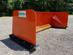 7 Low Pro Orange Snow Pusher Box Free Shipping Skid Steer Bobcat Case Kubota