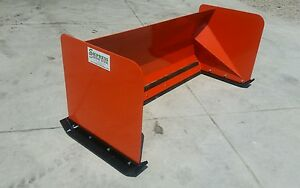 6 Snow Pusher Box Kubota Orange Skid Steer Snow Plow Bobcat Free Shipping