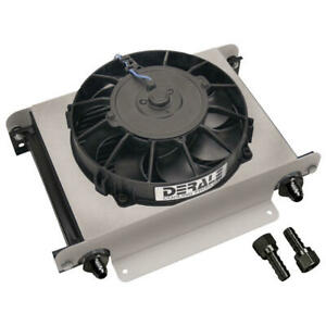 Derale Oil Cooler13760 Hyper cool 13 25 Row Aluminum Stacked Plate Remote