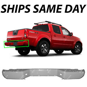 New Primered Grey Steel Rear Bumper Shell For 2005 2017 Nissan Frontier 05 17