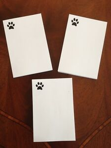 Refill Note Paper Dog Paw Loose Sheets 4 X 6 100 Sheets Lot Of 3