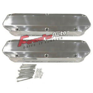Tall Valve Covers Sbf For Ford 289 302 351w 260 Polished Aluminum