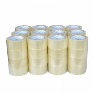 36 Rolls Packing Tape Lot Carton Box Sealing Package Clear 2 x110 Yards 330 Ft