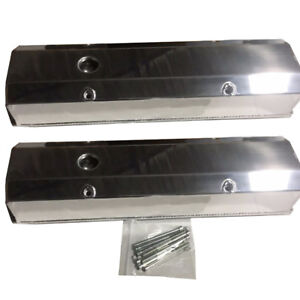 Valve Covers For 1958 1986 Small Block Chevy 283 350 302 327 Sbc Tall Polished