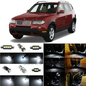 13pcs Error Free White Led Interior Light Package Fit For 2004 2010 Bmw X3 E83