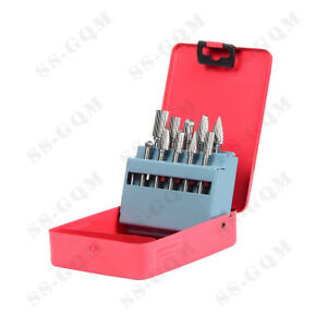 Tungsten Carbide Rotary Burr Set 6mm Shank Die Grinder Polishing Carving Bits