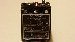 Tempo Instrument 651080e Solid State Timer On And Off Delay 0 5 5 Seconds