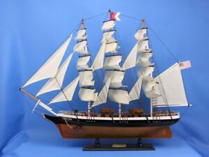 Wooden Handcrafted Model Clipper Ship 30 Limited High Museum Quality Amazing