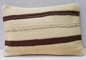 Ethnic Cushion Embroidered Pillow Decorative Kilim Lumbar Pillow Covers 14x20