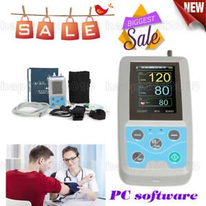 24h Nibp 2 4 tft Holter Ambulatory Blood Pressure Monitor Abpm50 Oximetry