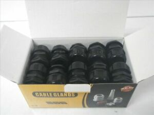 Cable Glands 1 npt Black Cable Range 18 25mm box Of 25pcs new In Box
