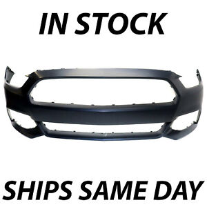 New Primered Front Bumper Cover Fascia For 2015 2017 Ford Mustang 15 17 W O Tow