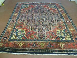 5 X 6 Antique Hand Made Persian Tribal Kurd Bidjar Bijar Goltog Wool Rug Nice