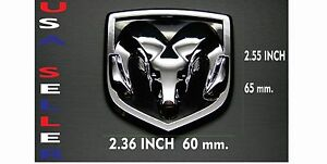 1 Dodge Ram Logo Emblem Badge Sticker Decal Abs Chrome For Hood Tailgate Grill