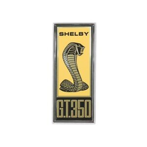 1967 67 Ford Mustang Shelby Gt350 Cobra Eleanor Fender Emblem Badge W Frame
