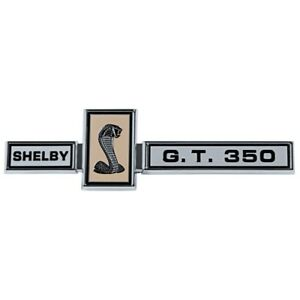1967 67 Ford Mustang Shelby Gt350 Cobra Eleanor Trunk Grille Emblem W Frame