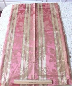 Antique French Elegant 19thc Pink Silk Roses Ribbons Home Dec Frame Fabric