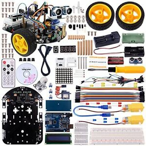 Longruner Arduino Project Smart Robot Car Kit With Two wheel Drives Intellige
